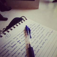 Writing while waiting
